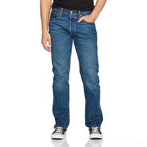 501 Straight Blue wash jeans